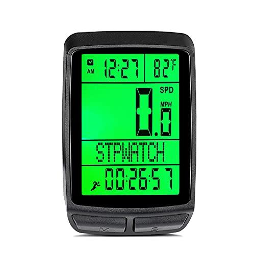 Computadora De Bicicleta, Velocímetro De Bicicleta Inalámbrico De 5 Idiomas, Odómetro De Retroiluminación LCD, Cronómetro De Bicicleta De Carretera De Montaña MTB