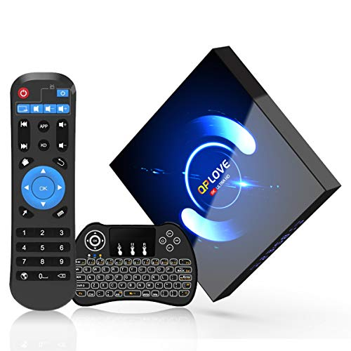 4GB RAM 64GB ROM Android 10.0 TV Box, 2021 Newest Android Box Ultra HD 3D 4K 6K H616 Android TV Box, Support Bluetooth 5.0/H265/Dual WiFi 2.4G 5G /100M LAN/USB 2.0 Smart TV Box with Wireless Keyboard