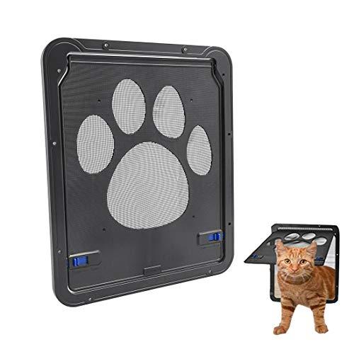 ZB ZealBoom Porta per Gatti e Cani,Gattaiola Porta Basculante per Gatti e Cani Porta Schermo per Animali Domestici Entrata e Uscita Controllabile 29x24CM
