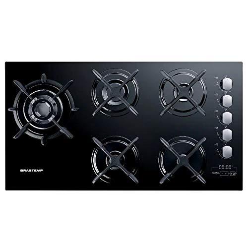 Cooktop 5 bocas Brastemp Gourmand com quadrichama e timer touch BIVOLT