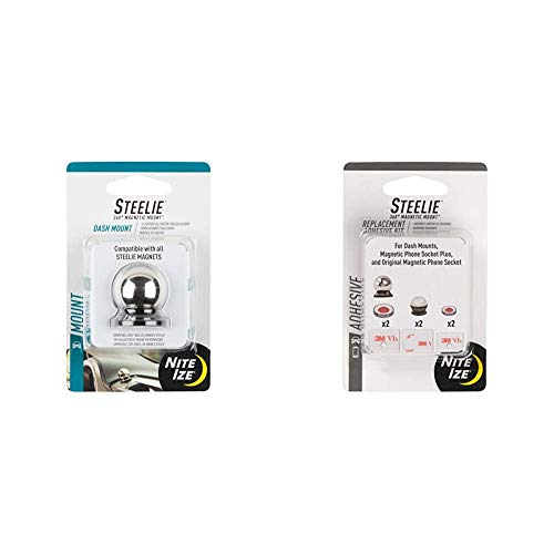 Nite Ize Original Steelie Dash Ball - Additional Dash Ball for Steelie Magnetic Phone Mounting System & Steelie Universal Adhesive Replacement Kit - for Dash Mount and Phone Sockets