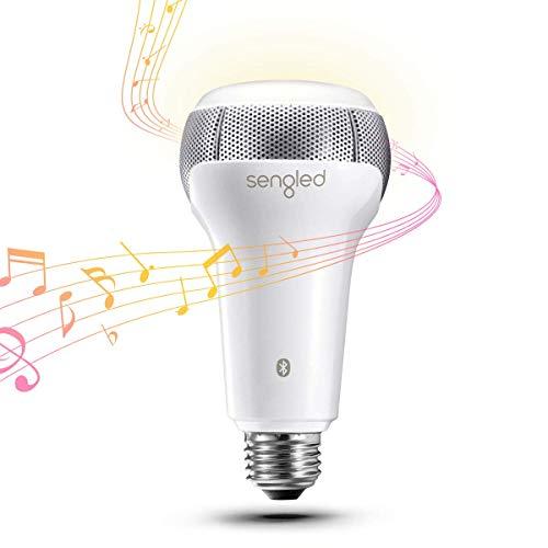 Sengled Bombilla LED con altavoz Solo Bluetooth, E27, regulable, blanco cálido, 2700 K, controlable mediante aplicación, compatible con Amazon Alexa [Clase energética A+]