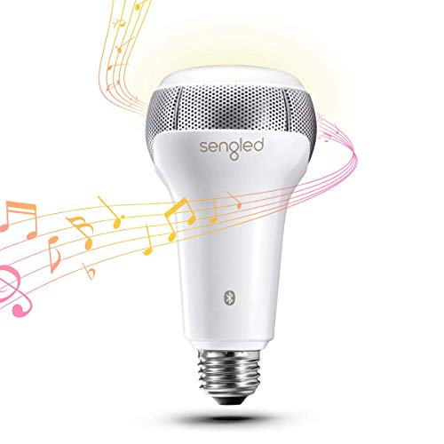 Sengled Solo Bluetooth Lautsprecher Smarte LED Lampe E27 Glühbirne, Dimmbar Warmweiß 2700K Musik Birne, Steuerbar via App, Kompatibel mit Amazon Alexa [Energieklasse A+]