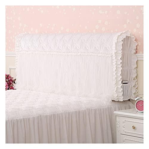 HDGZ Cubierta De Cabecera Cama Funda Protección Cabecera Elástica, con Funda Elástica Suave Decoración del Dormitorio Lavable (Color : White B, Size : 1.2M)