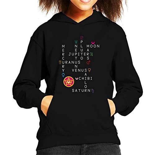 Cloud City 7 Planet Puzzel Sweatshirt met capuchon voor kinderen