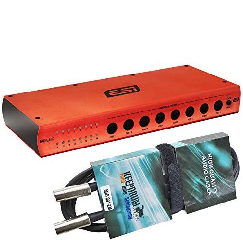 ESI M8U eX USB 3.0 MIDI-Interface mit 16 Ports + keepdrum MIDI Kabel 2m