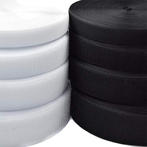 6/5/4/3/2 cm breedte Zwart Wit Klittenband/Rol - Naai tape (niet-klevend) Groothandel, Wit 3 cm X 1 meter Paar