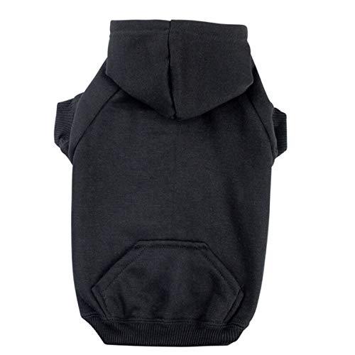 "New Zack & Zoey Basic Hoodie L Blk US2101-20-30 Pet Cloths 1.5"" x 17"" x 7"""