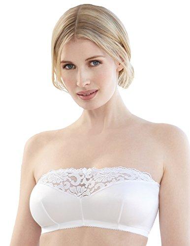 Glamorise Women's Plus Size Strapless Leisure Bra 1800-40 B-D, White