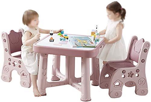 Preisvergleich Produktbild CTC Kinder- / Kindertisch- und Stuhlset,  verstellbarer Kunststoff-Studiertisch für Kindergarten,  Kinder von 2-8 Jahren,  Indoor-Outdoor-Garten / Rosa / 1 Table 2 Chairs