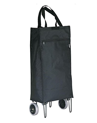 Preferred Nation Shopping Cart Travel Totes, One Size, Black