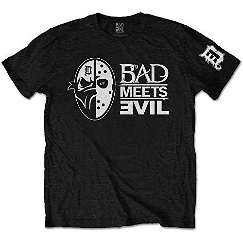 Rock Off Eminem Slim Shady Bad Meets Evil Masks Ufficiale Uomo Maglietta Unisex (Medium)