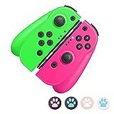 Switch Controller para Nintendo Switch, Wireless Bluetooth Joy-Con Controller Reemplazo Gamepad Joystick Console Pro Controller, Control remoto, Vibración dual, Giroscopio de 6 ejes