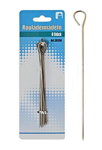 * Rouladennadeln Rouladenhalter Rouladenspieße Fleischnadeln Rinderrouladennadeln wählbar von 8-80 Stück (8)