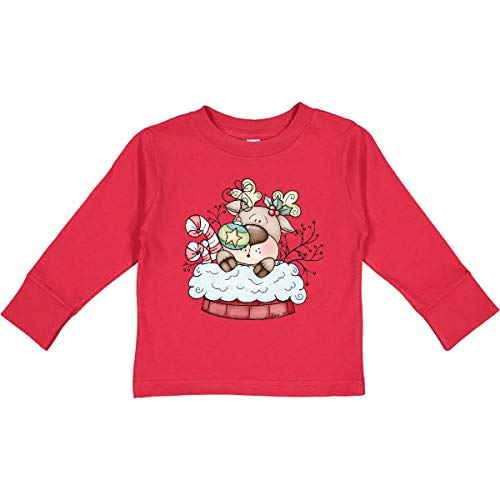 inktastic Christmas Chimney Reindeer Toddler Long Sleeve T-Shirt 3T Red 39a0e