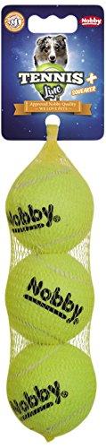 Nobby Tennisball mit Squeaker M 6,5 cm; 3er Netz