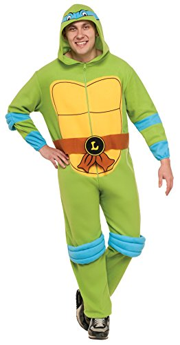 Rubie's Costume Men's Teenage Mutant Ninja Turtles Hooded Jumpsuit, Leonardo, Standard