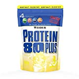 WEIDER Protein 80 Plus Multi-Component Protein Shake Powder, Vainilla Casein & Whey, Low Carb, 500g