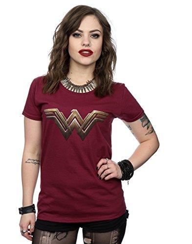 DC Comics mujer Wonder Woman Logo Camiseta Medium borgoña
