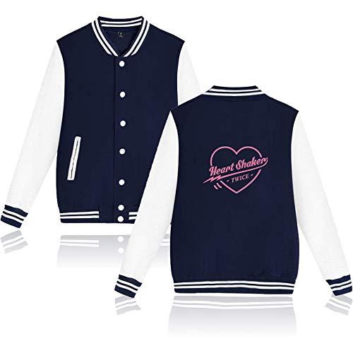 KPOP Twice Baseball Chaqueta Tops Heart Shaker Imprimiendo Sudadera Jacket Outerwear...