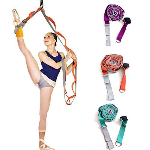 Beenstretcher, Yoga-riem met meerdere lussen, Verstelbare beenstretcher Verlengt stretchband, Training Eenvoudig te installeren op deur Flexibiliteit Rekbare beenriem