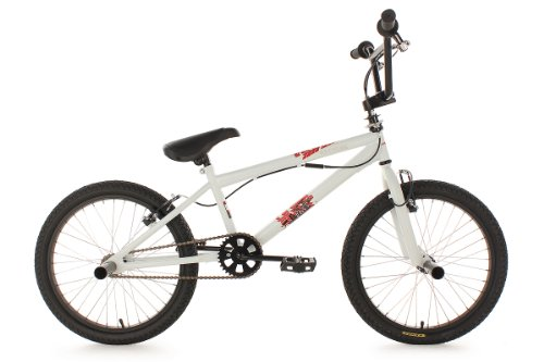 KS Cycling Uni  BMX Freestyle 20'' Fatt, Blanco, Tamaño del