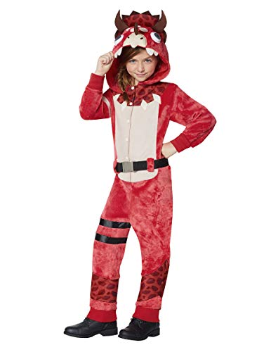 Kids Fortnite Plush Tricera Ops Costume - L/XL Red