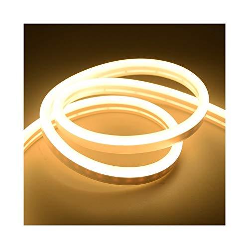 CHUNMA 6mm Reduzca la luz de neón 12V tira LED SMD 2835 120leds / M del tubo flexible de la cuerda a prueba de agua for el bricolaje día de fiesta de la decoración de la Luz (Color : Warm white)