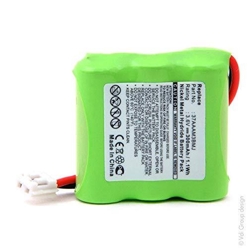 NX - Batería para teléfonos inalámbricos (3 Pilas 2/3 AAA, 3S1P, ST1, 3,6 V 300 mAh)