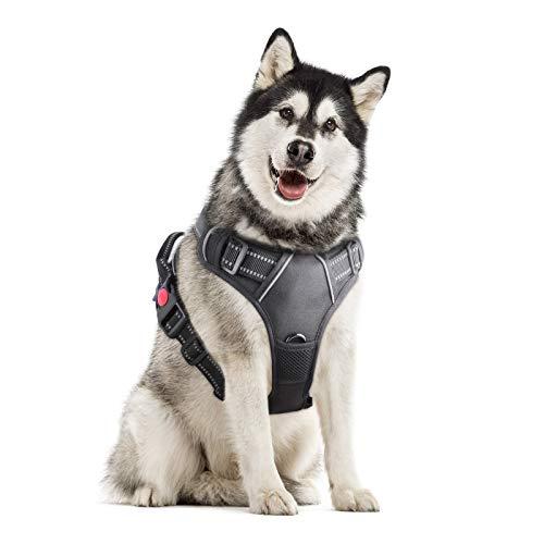 Grsta Arnés para Perros pequeños, Arnes Perro Grande Mediano Pequeño, Reflectantes Arnés Deportivo para Perros, Sin Tirón Arneses Tipo Chaleco para Perros Cachorros Ajustable Adiesreamiento