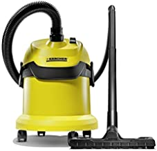 Kärcher WD2 Wet and Dry Vacuum, Steel, 1000 W, 12 liters, Yellow