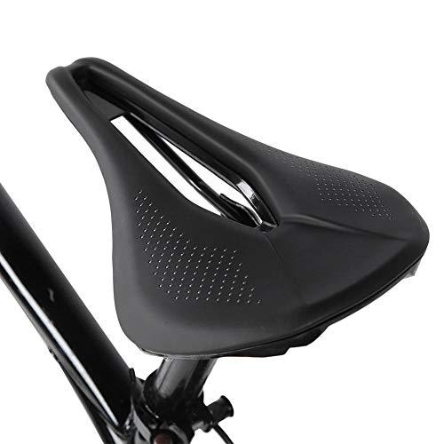 PU zwart zadel voor fiets, holle zitting zadel racefiets mountainbike fiets zacht hol fietsen zadel kussen pad zitting