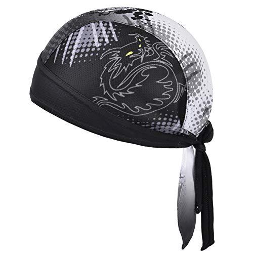 Vbiger Bandana Cap Sommermütze Bandana Kopftuch Atmungsaktive Fahrrad Kopfbedeckung, Farbe-01, Einheitsgröße
