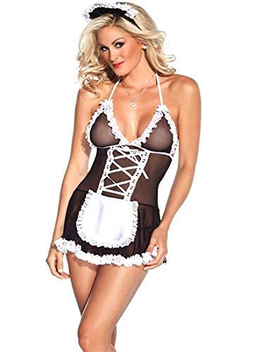 YeeHoo Donna Sexy Infermiera Uniform Cosplay Costume Vestito da Domestica per Natale Halloween