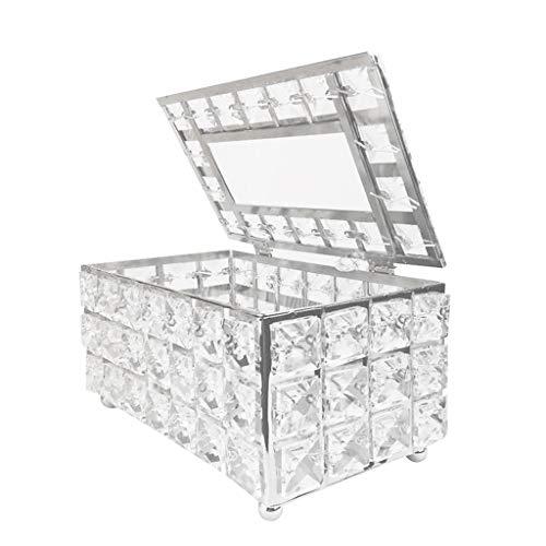 holilest Tissue Box, Tissue Box Holder Crystal Cube Napkin Dispenser Bedroom Office Hotel Cafe Coffee-B