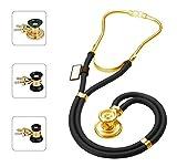 MDF Sprague Rappaport Zweikopf-Stethoskop mit austauschbarem Bruststück für Erwachsene, Kinderärzte und Säuglinge - 22K Gold Ausgabe 22K Gold und Schwarz (MDF767-K11)