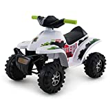 Quad ATV - Niños Niños Juguete para Montar 12v Eléctrico/Batería Ride On Utility Quad Bike para niños +2 años (Color : Blanco, Size : 68.5 * 48 * 43cm)