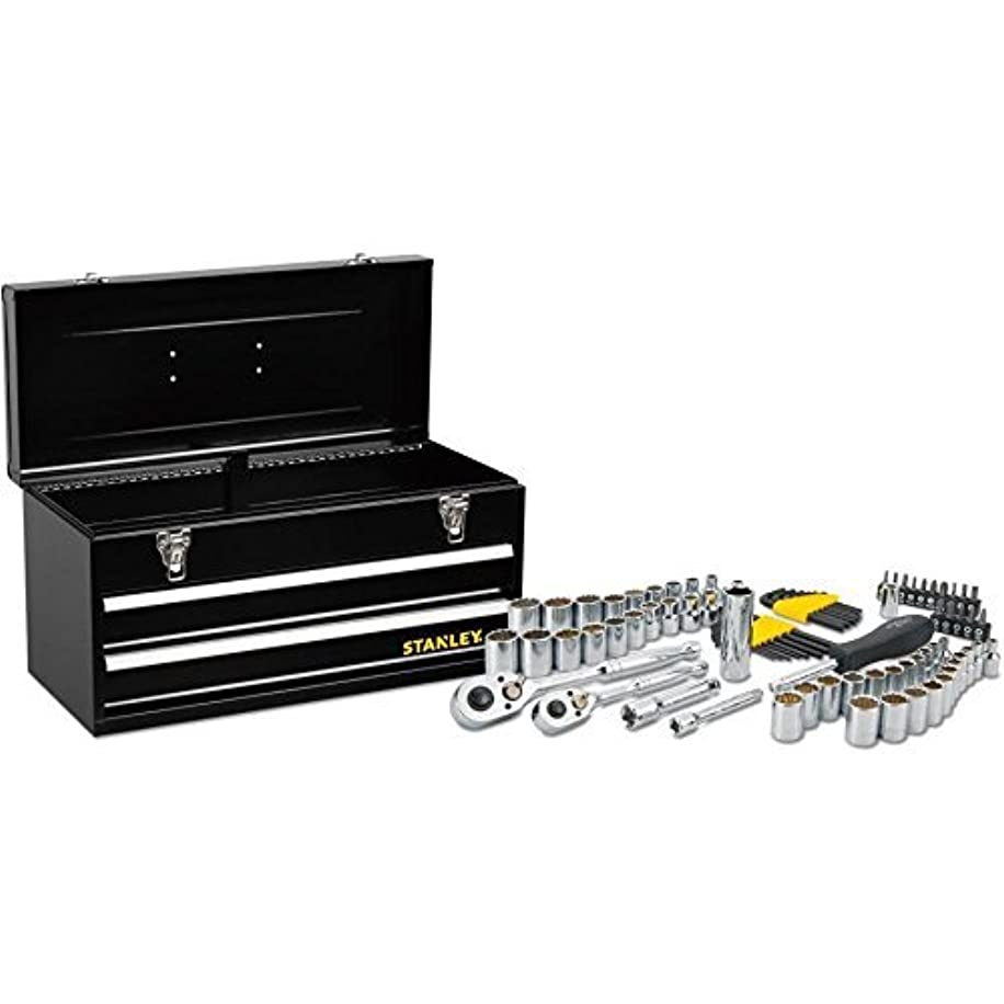 Stanley 81-Piece Standard (SAE) and Metric Mechanics Tool Set with Tool Chest