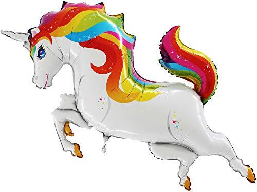 """TOYLAND 40 """"Globo Colorido de la Hoja del Unicornio - decoración de la Fiesta de cumpleaños"""