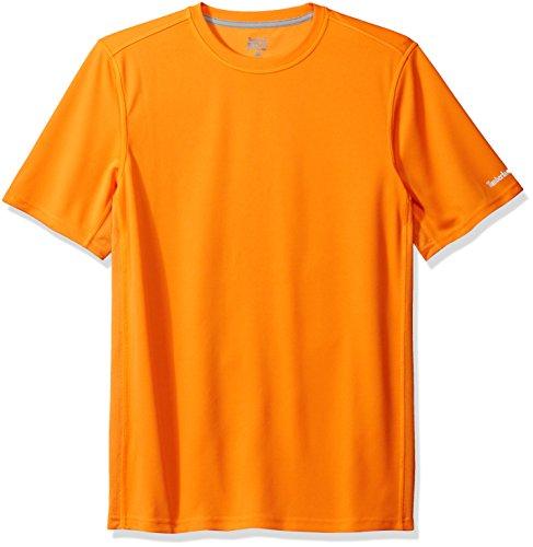 Timberland Herren T-Shirt PRO, Wicking Good - Orange - Klein