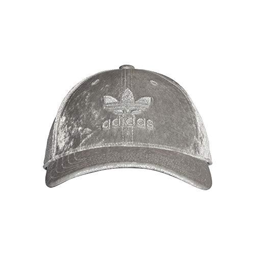 adidas Unisex Velour BB Cap Baseball Kappe, MGH Solid Grey/Silver Metallic, S