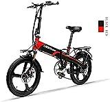 Bicicletas Eléctricas, Bicicleta eléctrica plegable de 20 pulgadas 48V 240W 12.8AH Batería de litio Ciudad de la ciudad Bicicleta 7 Velocidad E-bicicletas 5 velocidades adultas masculinas y femeninas