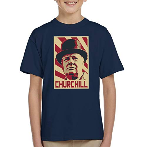 Winston Churchill Retro Propaganda Kid's T-shirt