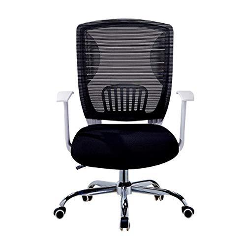 Draaibare stoel met 5 wielen, ergonomische bureaustoel, hoge rugleuning op net, Lombare, bureaustoel, comfortabel en betrouwbaar.