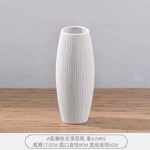 Bedom wallpaper Retro Nordic botella de cerámica sala de estar comedor mesa de flores secas florero decoración del hogar péndulo props-Un jarrón liso esmerilado
