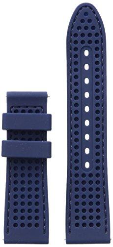 GUESS CS1002S6 Correa para reloj, Azul perforado