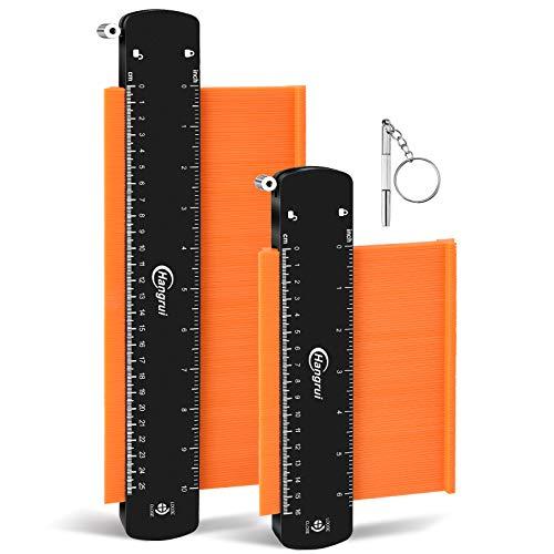 Hangrui Medidor de Contornos con Bloqueo,25cm & 15cm Dup