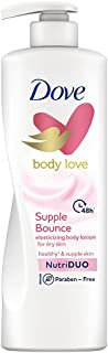Dove Body Love Supple Bounce Body Lotion for Dry Skin 48Hrs Moisturisation, Paraben Free, with Plant based Moisturiser, Fo...