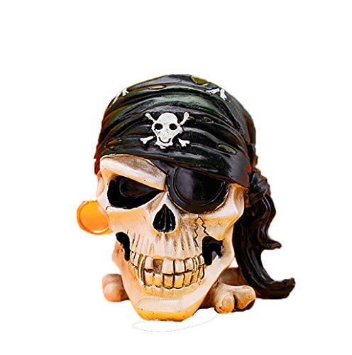 Aschenbecher Kreative Persönlichkeit Mode Dekoration Retro Dekoration Ornamente Geschenk Geschenk Pirat Schädel Rollsnownow