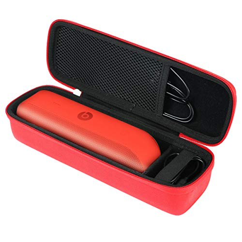 Khanka Hard Travel Case Replacement for Apple Dr. Dre Beats Pill+ Pill Plus Bluetooth Portable Wireless Speaker (red)
